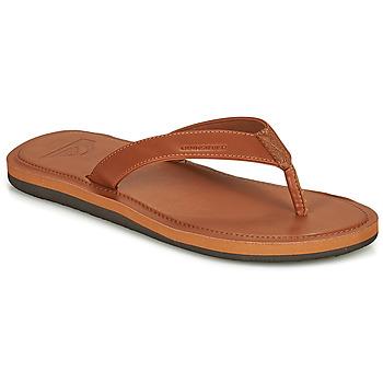 Cipők Férfi Lábujjközös papucsok Quiksilver MOLOKAI NUBUK II Barna