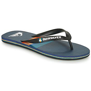 Cipők Férfi Lábujjközös papucsok Quiksilver MOLOKAI SEASONS Fekete  / Kék / Narancssárga