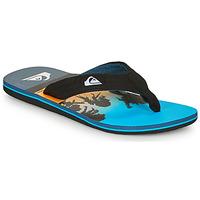 Cipők Férfi Lábujjközös papucsok Quiksilver MOLOKAI LAYBACK Kék / Fekete