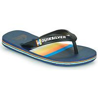 Cipők Gyerek Lábujjközös papucsok Quiksilver MOLOKAI SLAB Kék / Narancssárga / Fekete