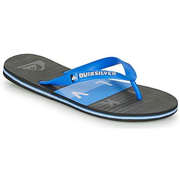 Cipők Férfi Lábujjközös papucsok Quiksilver MOLOKAI WOLRDBLOCK Kék / Fekete