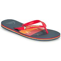 Cipők Férfi Lábujjközös papucsok Quiksilver MOLOKAI WOLRDBLOCK Kék / Piros