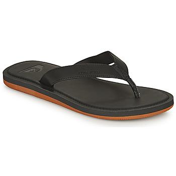 Cipők Férfi Lábujjközös papucsok Quiksilver MOLOKAI NUBUCK II Fekete