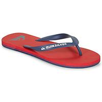 Cipők Férfi Lábujjközös papucsok Quiksilver MOLOKAI Piros / Tengerész