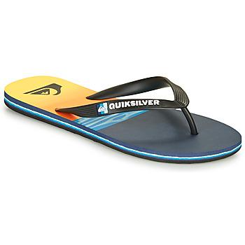 Cipők Férfi Lábujjközös papucsok Quiksilver MOLOKAI HOLD DOWN Fekete  / Kék