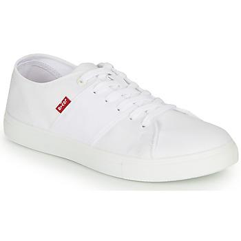 Cipők Férfi Rövid szárú edzőcipők Levi's PILLSBURY Fehér