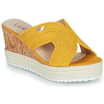 Cipők Női Papucsok Les Petites Bombes LIDY Mustár sárga