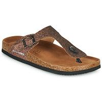 Cipők Női Lábujjközös papucsok Les Petites Bombes TANIA Bronz