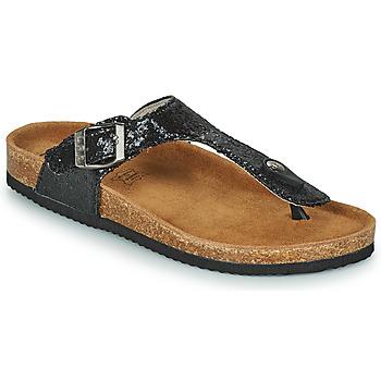 Cipők Női Lábujjközös papucsok Les Petites Bombes TANIA Fekete