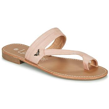 Cipők Női Lábujjközös papucsok Les Petites Bombes EVA Fehér / Ezüst