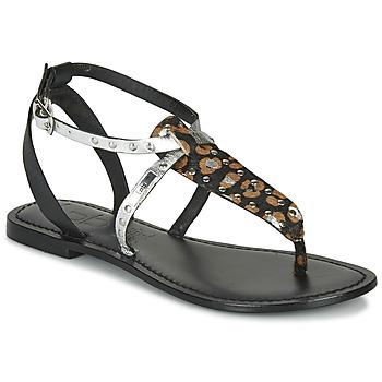 Cipők Női Szandálok / Saruk Les Petites Bombes ALIX Fekete  / Ezüst