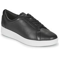 Cipők Női Rövid szárú edzőcipők FitFlop RALLY SNEAKERS Fekete