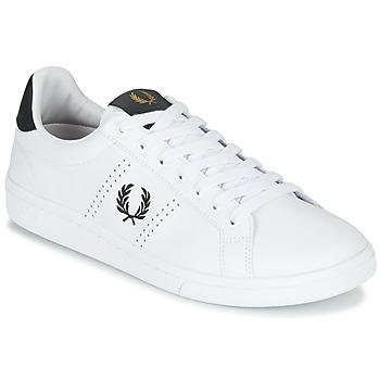 Cipők Férfi Rövid szárú edzőcipők Fred Perry B721 LEATHER Fehér