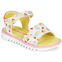 Cipők Lány Szandálok / Saruk Agatha Ruiz de la Prada SMILES Fehér / Sokszínű