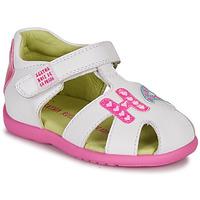 Cipők Lány Szandálok / Saruk Agatha Ruiz de la Prada HAPPY Fehér / Rózsaszín