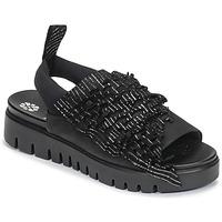 Cipők Női Szandálok / Saruk Papucei RAMINA Fekete