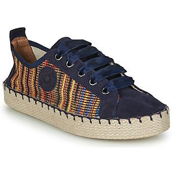 Cipők Női Gyékény talpú cipők Pataugas PANKE Tengerész