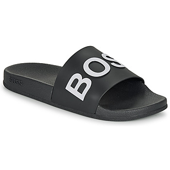 Cipők Férfi strandpapucsok BOSS BAY SLID RBLG Fekete  / Fehér