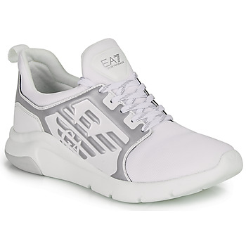 Cipők Rövid szárú edzőcipők Emporio Armani EA7 RACER REFLEX CC Fehér / Ezüst