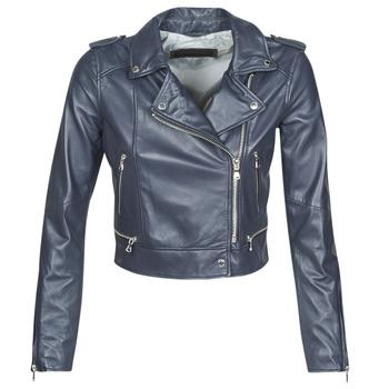 Ruhák Női Bőrkabátok / műbőr kabátok Oakwood YOKO Tengerész