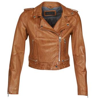 Ruhák Női Bőrkabátok / műbőr kabátok Oakwood KYOTO Konyak