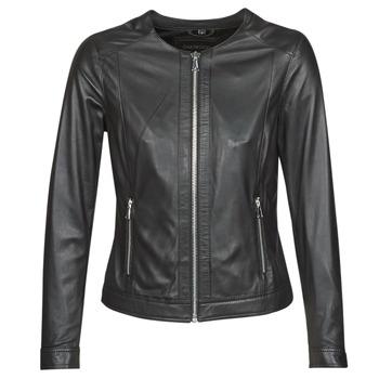 Ruhák Női Bőrkabátok / műbőr kabátok Oakwood PLEASE Fekete