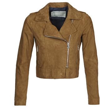 Ruhák Női Bőrkabátok / műbőr kabátok Oakwood PHOEBE Konyak / Szarvasbőr