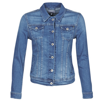 Ruhák Női Farmerkabátok Pepe jeans THRIFT Kék / Átlagos / Hb6