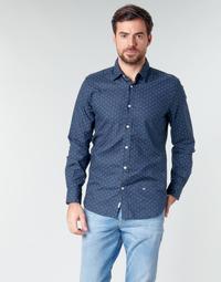 Ruhák Férfi Hosszú ujjú ingek Pepe jeans ADAN Tengerész
