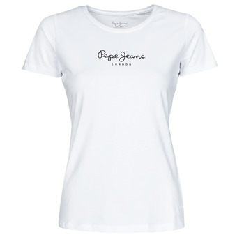 Ruhák Női Rövid ujjú pólók Pepe jeans NEW VIRGINIA Fehér