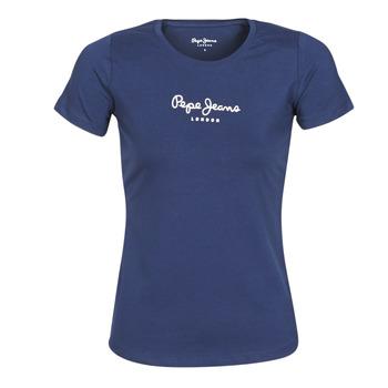 Ruhák Női Rövid ujjú pólók Pepe jeans NEW VIRGINIA Tengerész