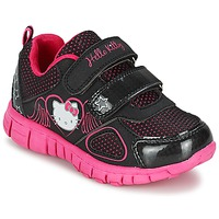 Cipők Lány Rövid szárú edzőcipők Hello Kitty BASEMO PHYL Fekete