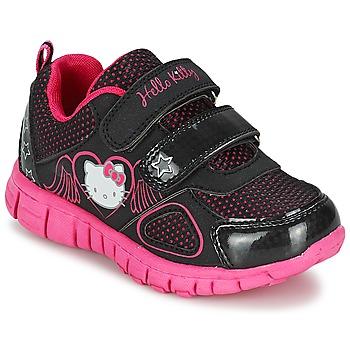 Shoes Lány Rövid szárú edzőcipők Hello Kitty BASEMO PHYL Fekete