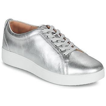Cipők Női Rövid szárú edzőcipők FitFlop RALLY SNEAKERS Ezüst
