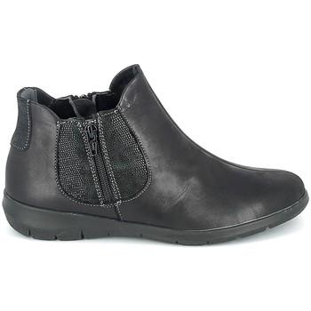 Cipők Női Csizmák Boissy Boots Noir texturé Fekete