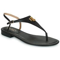 Cipők Női Szandálok / Saruk Lauren Ralph Lauren ELLINGTON SANDALS CASUAL Fekete