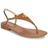 Cipők Női Szandálok / Saruk Lauren Ralph Lauren ELLINGTON SANDALS CASUAL Konyak