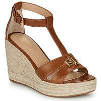 Cipők Női Szandálok / Saruk Lauren Ralph Lauren HALE ESPADRILLES CASUAL Konyak