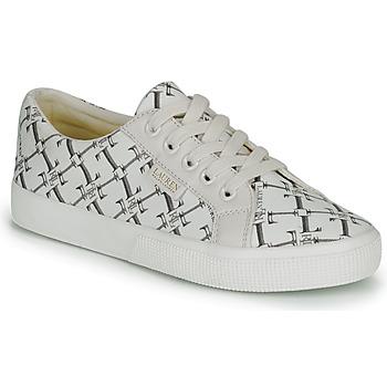 Cipők Női Rövid szárú edzőcipők Lauren Ralph Lauren JAYCEE NE SNEAKERS VULC Krém