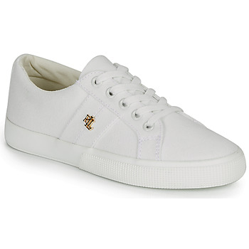 Cipők Női Rövid szárú edzőcipők Lauren Ralph Lauren JANSON II Fehér