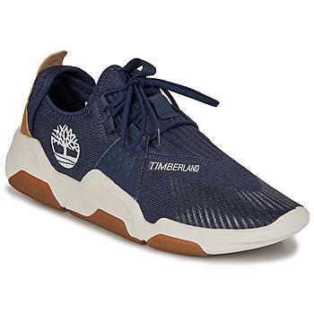 Cipők Férfi Rövid szárú edzőcipők Timberland EARTH RALLY FLEXIKNIT OX Kék