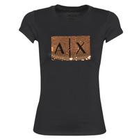 Ruhák Női Rövid ujjú pólók Armani Exchange HONEY Fekete