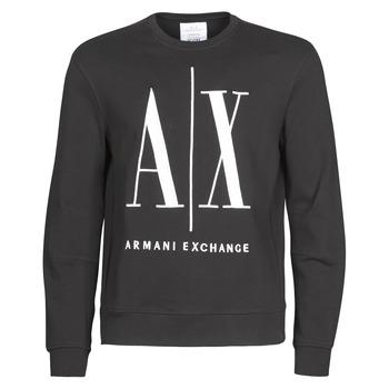 Ruhák Férfi Pulóverek Armani Exchange HELIX Fekete