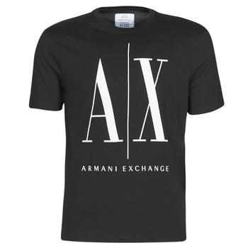 Ruhák Férfi Rövid ujjú pólók Armani Exchange HULO Fekete