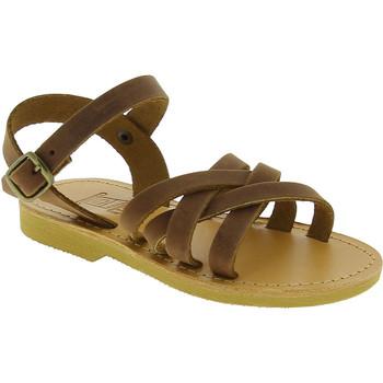 Cipők Lány Szandálok / Saruk Attica Sandals HEBE NUBUK DK BROWN Marrone medio