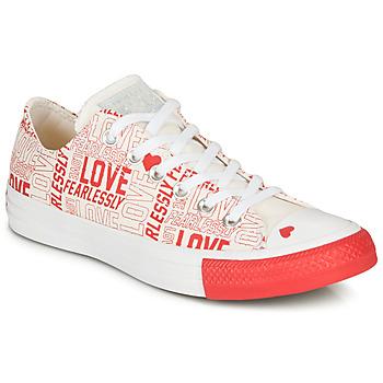 Cipők Női Rövid szárú edzőcipők Converse CHUCK TAYLOR ALL STAR - OX Fehér / Piros