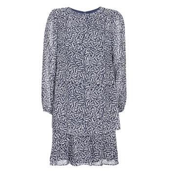 Ruhák Női Rövid ruhák Lauren Ralph Lauren Alois Tengerész / Fehér