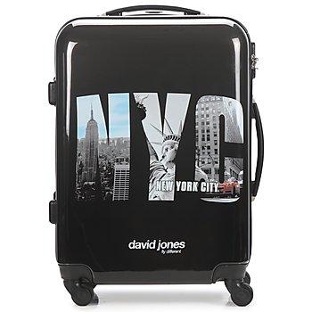 Táskák Keményfedeles bőröndök David Jones STEBI 53L Fekete