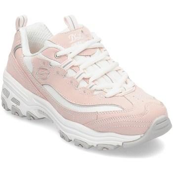 Cipők Lány Rövid szárú edzőcipők Skechers Dlites Biggest Fan Rózsaszín