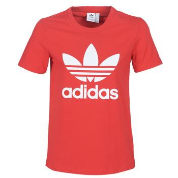 Ruhák Női Rövid ujjú pólók adidas Originals TREFOIL TEE Piros / Kuxus